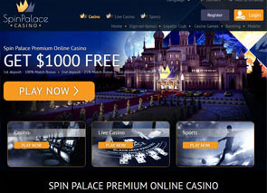 Spin Palace Casino Home